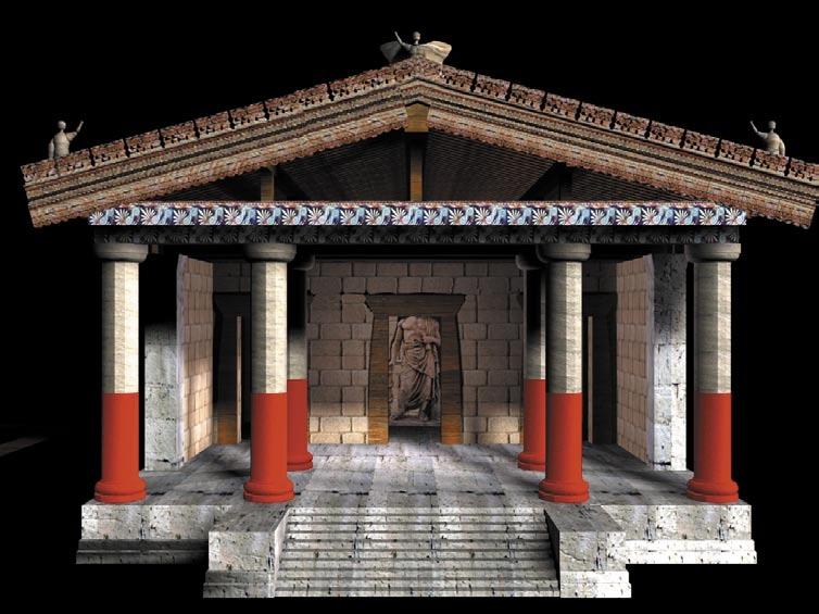 Tempio etrusco for Come costruire un mazzo di portico anteriore