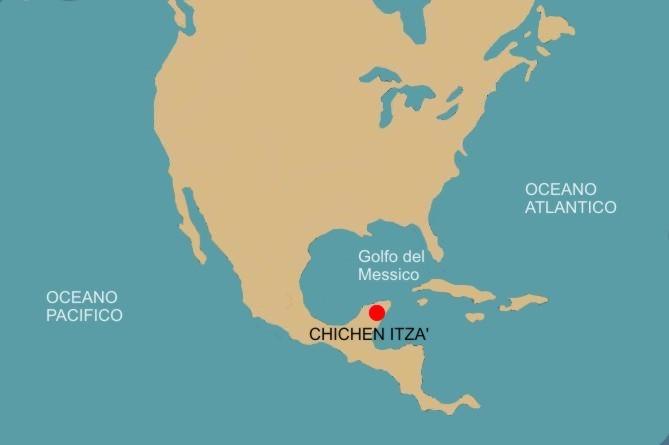 Cartina Geografica Politica Del Messico.Chichen Itza