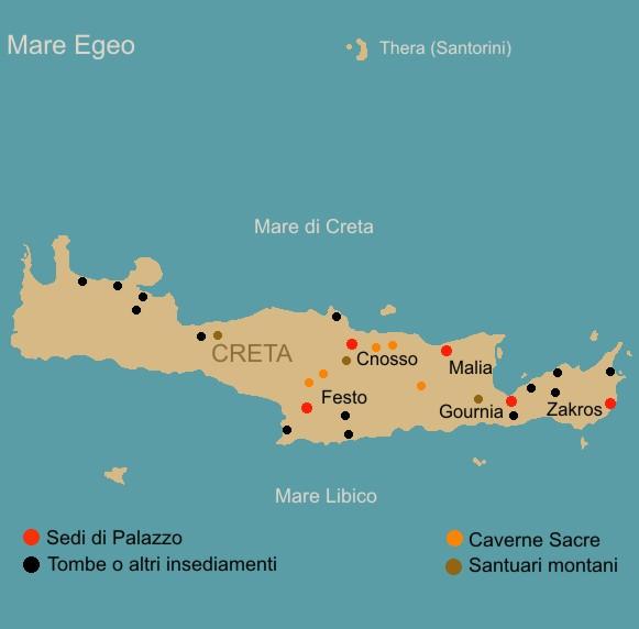 Cartina Geografica Dell Isola Di Creta.Cnosso